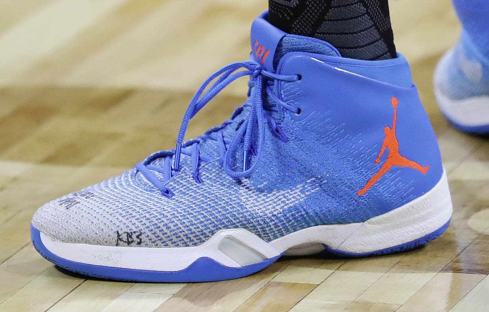 Worn by Russell Westbrook at NBA All-Star practice