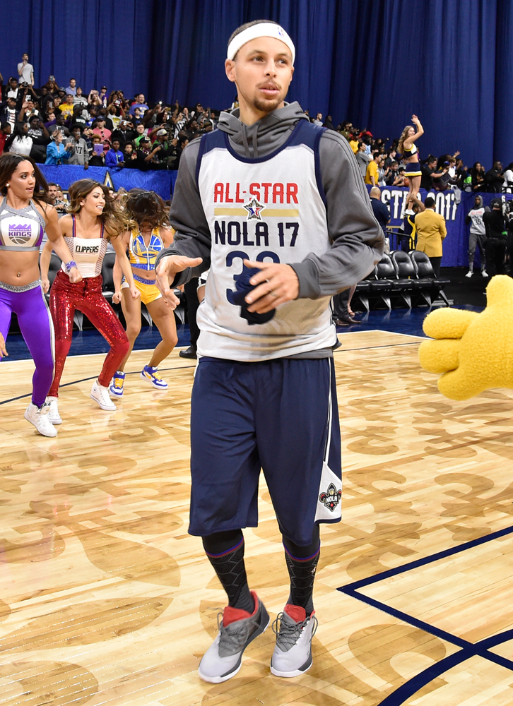 Worn by Stephen Curry at the NBA All-Star practice