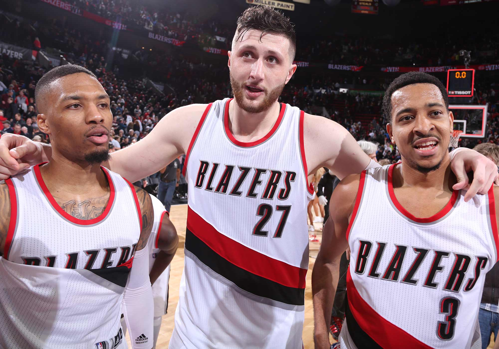 Portland Catches 'Nurkic Fever' As Center Leads Blazers To Win Over Philadelphia