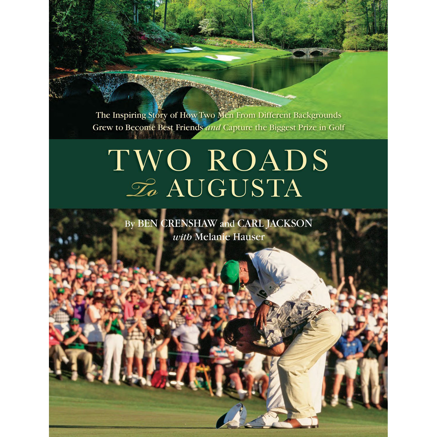 """The cover photo of the hulking Jackson tenderly consoling a victorious, doubled-over Crenshaw at the 1995 Masters just days after the death of Crenshaw's beloved mentor Harvey Penick is one of golf's most memorable; so is the abiding relationship between Gentle Ben and his Augusta caddie. How their paths diverged is a distinctly American kind of story, told as a lushly illustrated dual biography spread out against a backdrop of the game and the cultural canvas of the times. <p><a class=""""standard-button"""" href=""""https://www.amazon.com/gp/product/1888531193/ref=as_li_qf_sp_asin_il_tl?ie=UTF8&tag=golf0527-20&camp=1789&creative=9325&linkCode=as2&creativeASIN=1888531193&linkId=14677b55e0dc4725df3f70427d63e265"""" target=""""_blank"""">Buy It Now</a></p>"""