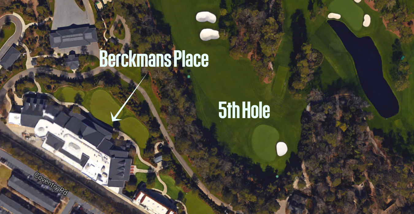 "Berckmans Place, the ultimate VIP hospitality ""tent"" that opened off Augusta National's 5th fairway in 2013."