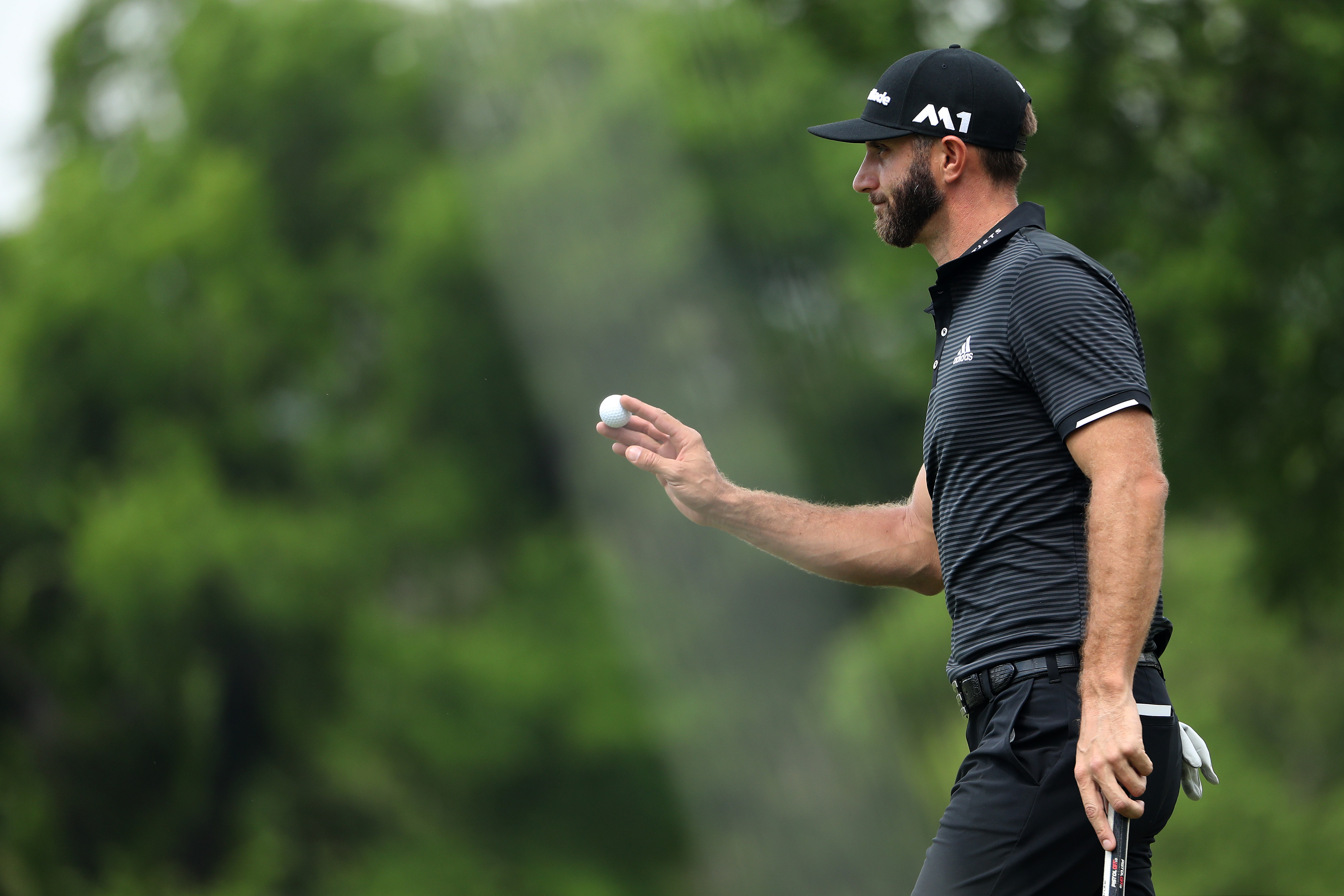 World No. 1 Dustin Johnson has led all 46 holes he has played at this year's Match Play Championship.