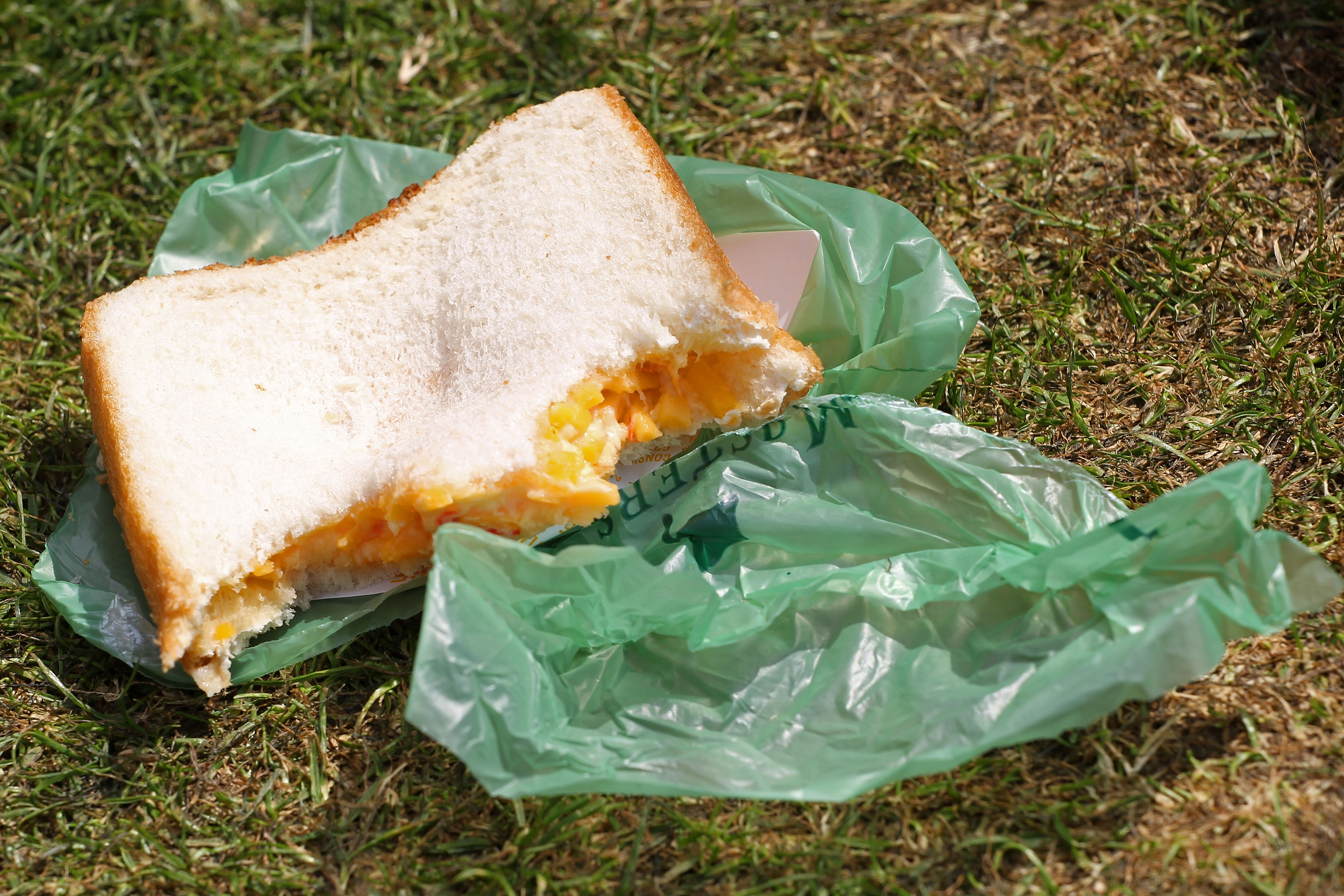 Augusta National's famous pimento cheese sandwich.