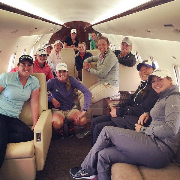 Thanks @FedEx for the lift to @KingsmillLPGA! #privatejetlife #spoiled