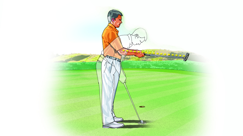 If your putting setup is inconsistent, a four-foot putt can feel like a 40-footer. But a simple pre-putting posture tune-up can make you deadly from short range.
