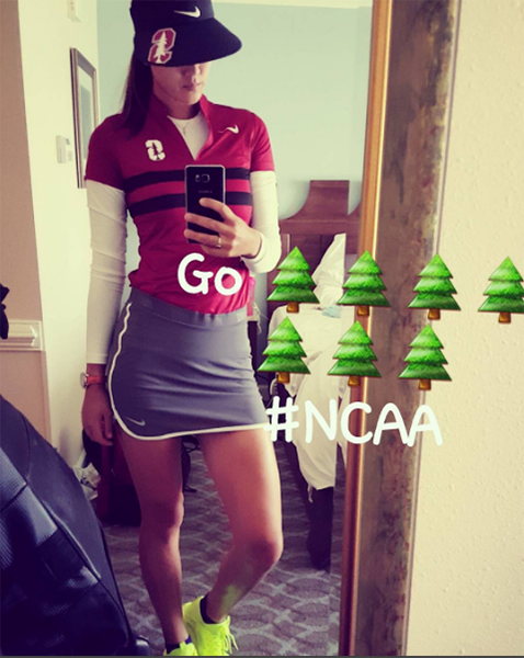 LEGGO @stanfordwgolf !! Cheering for my girls today! @nikegolf #EnjoyTheChase #GoTrees #NerdNation Shop Stanford @nikegolf @nike @stanfordfball @stanford gear at the link in my bio