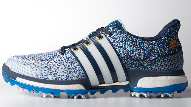 A closer look at the Adidas TOUR360 Prime Boost golf shoes.