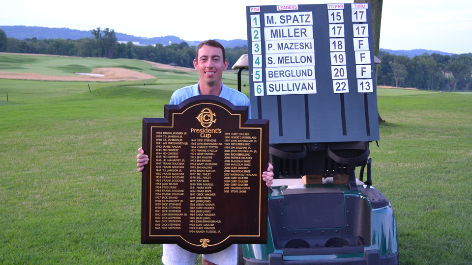Malcolm Spatz, shown after winning his most recent President's Cup in 2013, has five titles overall.