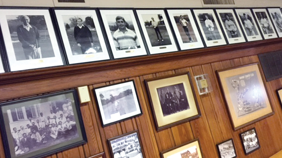 The SWAT room is soaked in history, but only President's Cup winners get their photos on the wall.