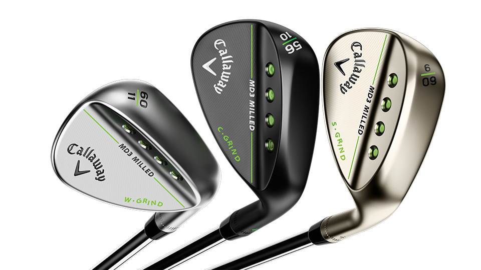 The MD3 Milled Gold Nickel wedge comes in lofts of 50, 52, 56, 58, and 60 degrees.