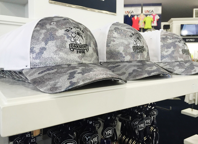 """Nothing says """"I had a great time at the U.S. Open"""" like sparkly gray cammo."""