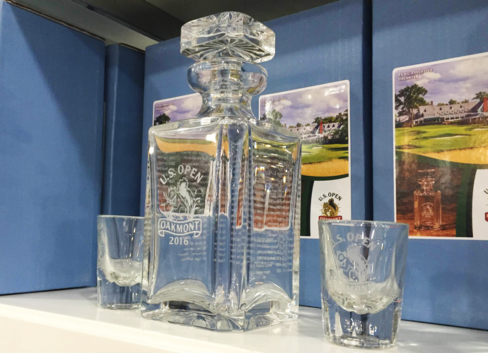 You may need a drink after playing one of the hardest courses in the world. So why not an Oakmont decanter?