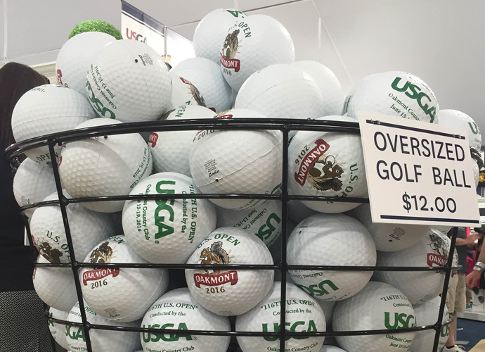 The giant rubber golf balls would be great for dodgeball, or as autograph holders.