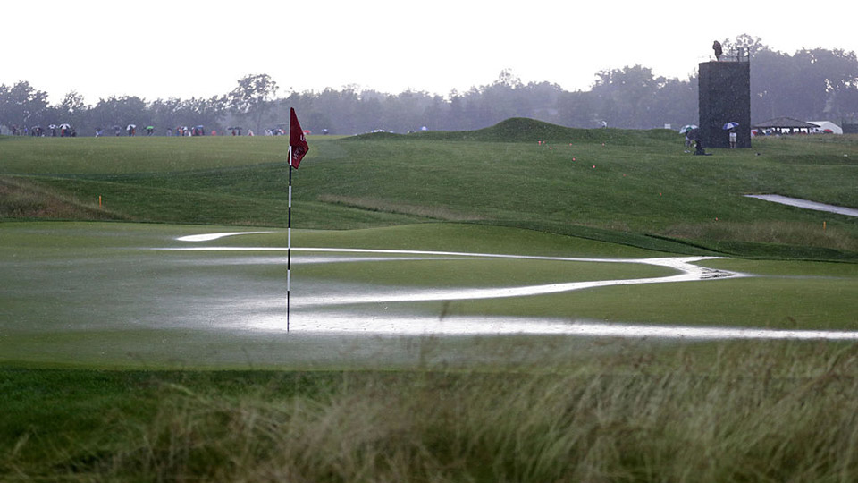 When rain comes, suddenly the Oakmont you knew is a different course.