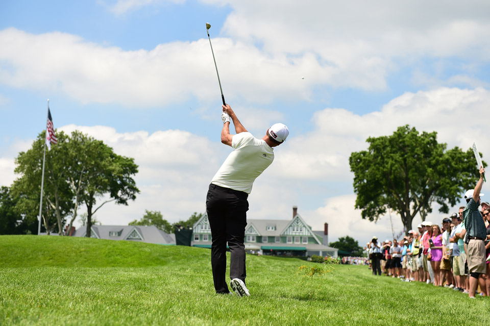 Adam Scott during the finish of the first round Friday at Oakmont.