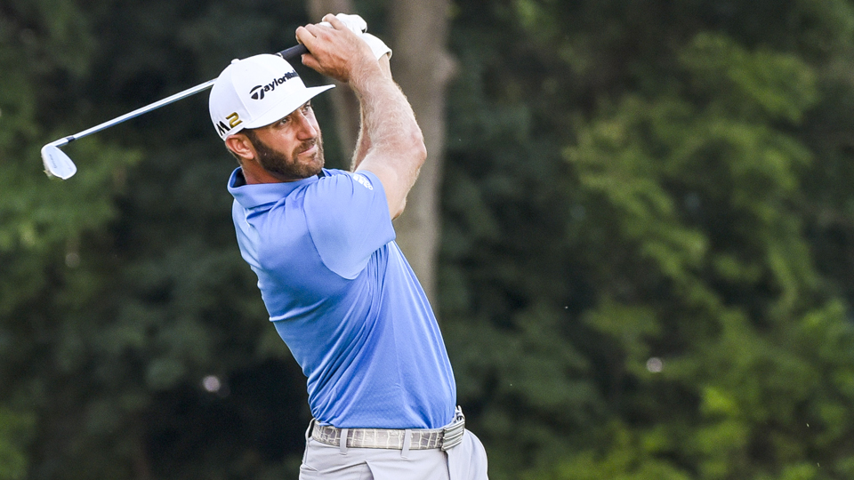 Dustin Johnson played 36 holes on Friday and still leads the U.S. Open heading into Saturday's third round.