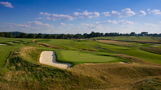 A general view of Oakmont Country Club after the removal of the trees that used to line the fairways.