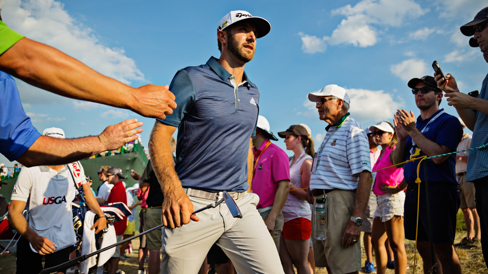 Dustin Johnson finally got his first major victory, and a one-stroke penalty he received after his round didn't even matter in the end.