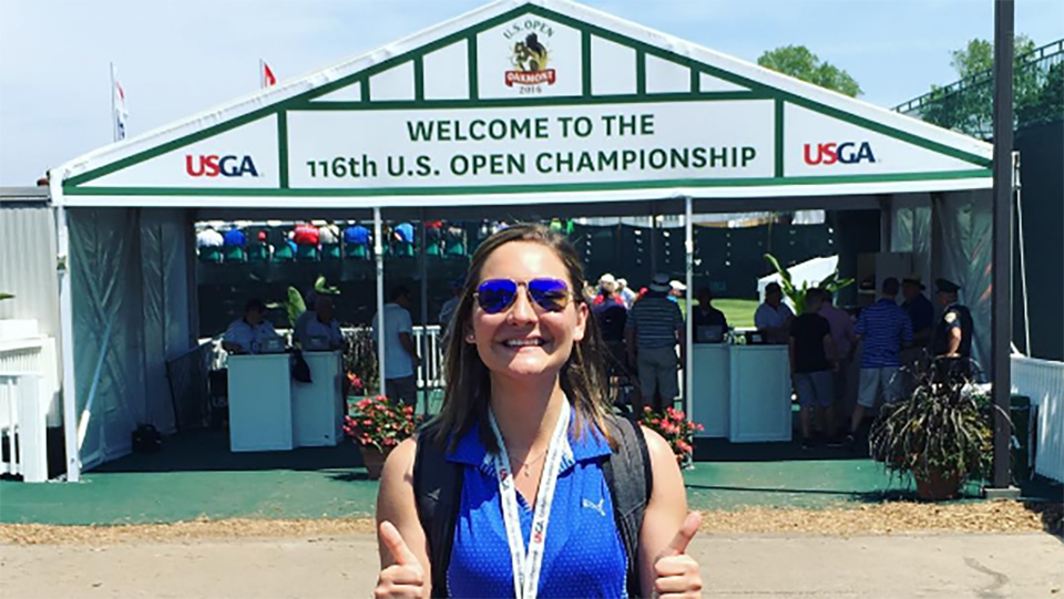 Marika Washchyshyn on the last day of the 2016 U.S. Open.