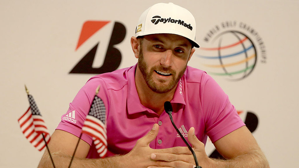 Dustin Johnson spoke about the USGA's controversial penalty decision at the 2016 U.S. Open.