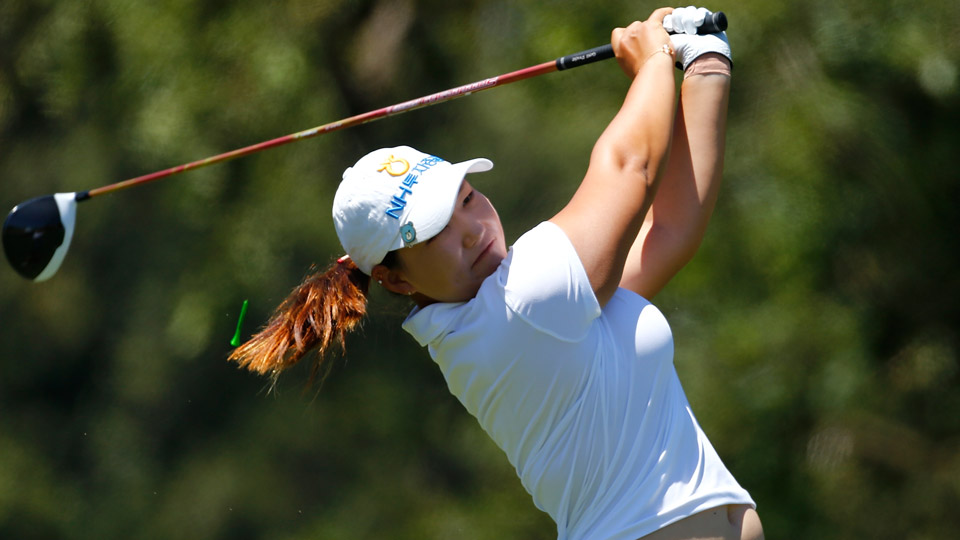Mirim Lee during the first round of the 2016 U.S. Women's Open at CordeValle.