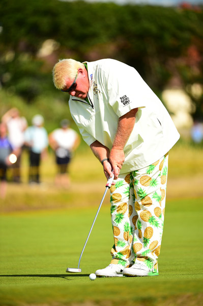 Former Open champion John Daly struggled to a 75 on day one.