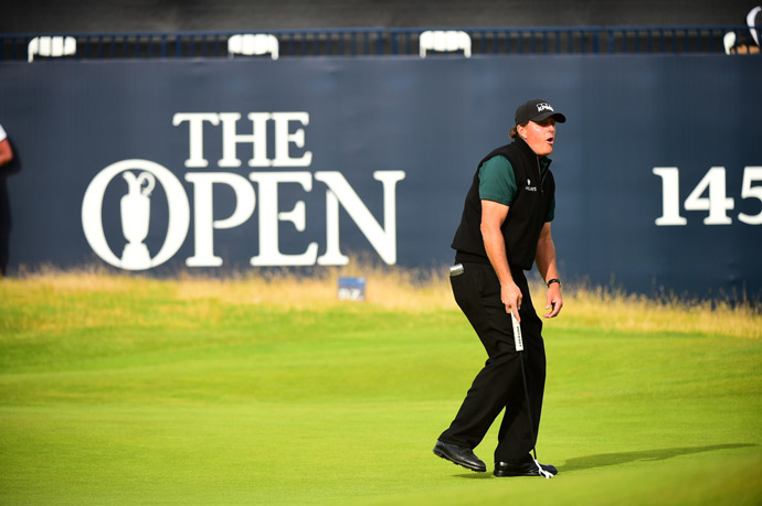 Unfortunately the putt lipped out, killing Mickelson's chance to make history.