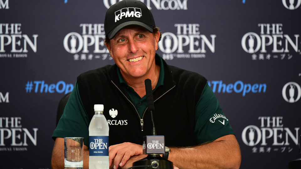 Phil Mickelson was less than an inch away from making history on Thursday. His putt for a 62 wrapped around the hole but didn't drop.