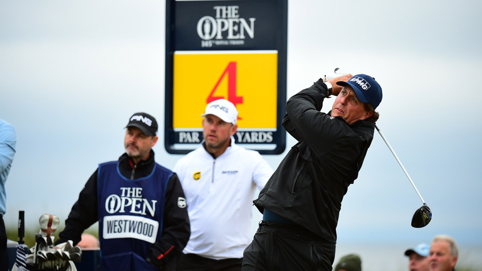 Phil Mickelson during the second round of the 2016 British Open at Royal Troon.
