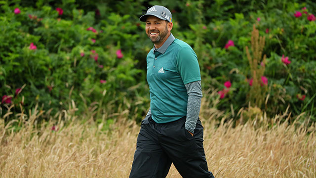 Sergio Garcia of Spain walks on the 2nd hole during the second round on day two of the 145th Open Championship at Royal Troon on July 15, 2016 in Troon, Scotland.