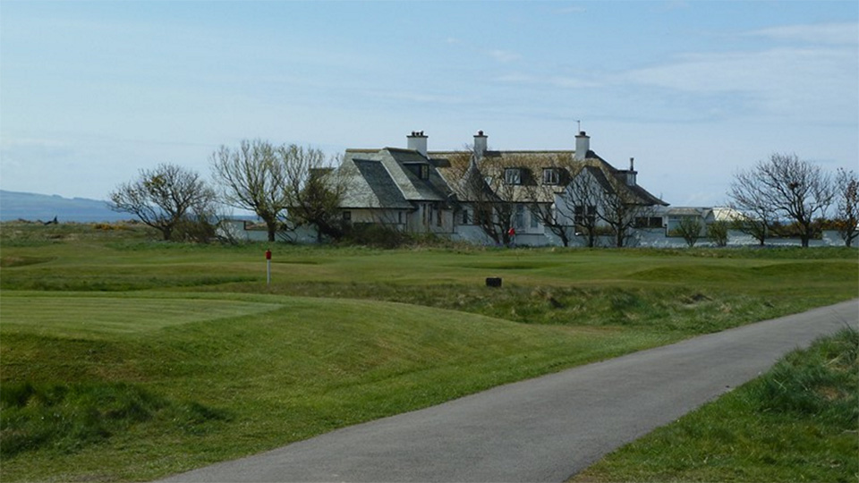 Blackrock House, the famed private residence that sits squarely inside Troon's gates, between the 2nd and 16th greens.