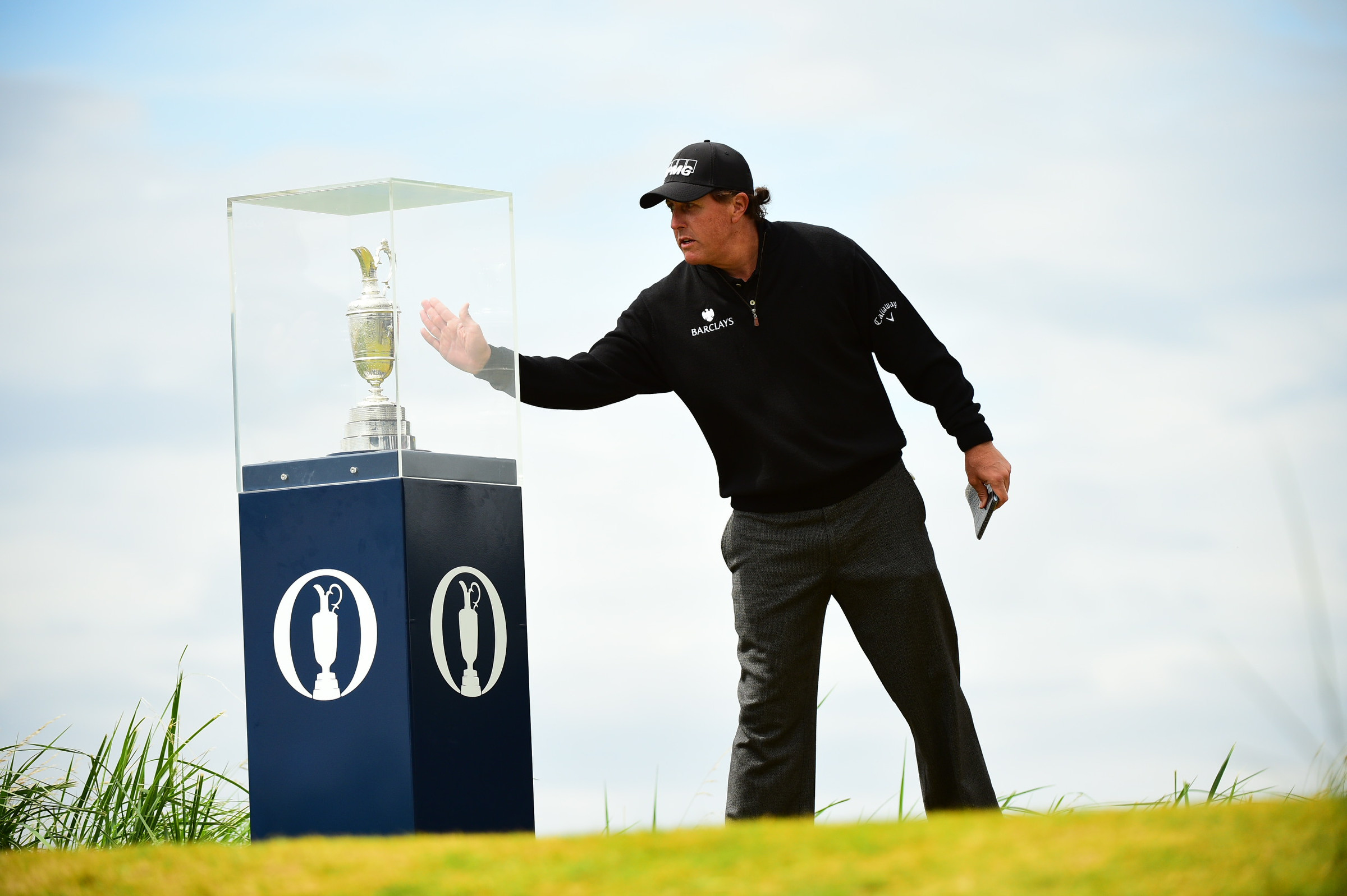 Phil Mickelson touched the glass around the claret jug prior to his Sunday round, but Henrik Stenson had his hands on the trophy after 72 holes.