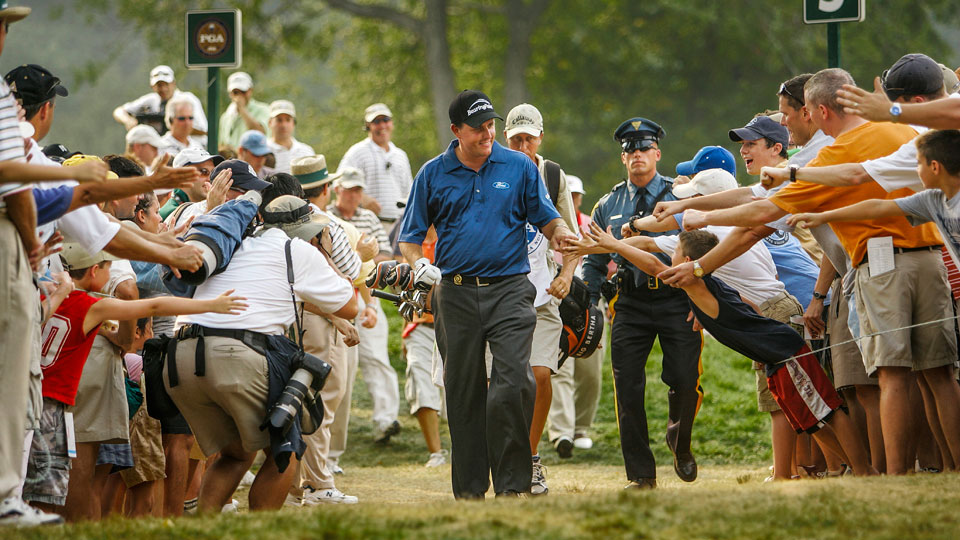 Mickelson's fan favorite status was cemented after his 2005 PGA victory at Baltusrol.