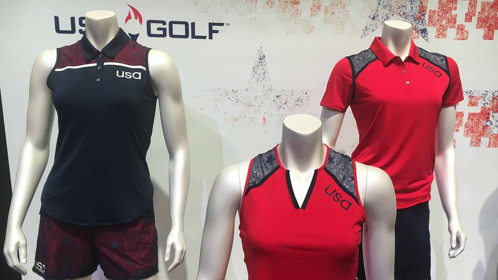 The Women's Golf team uniforms for the 2016 Olympics in Rio.