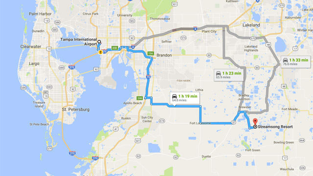 Streamsong can be accessed from either the Tampa or Orlando airports in less than two hours.