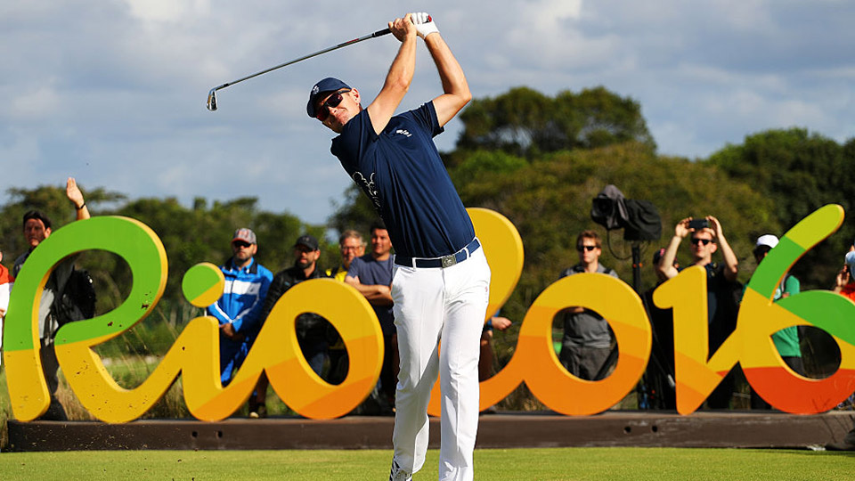 Justin Rose made a historic hole-in-one in Rio de Janeiro in Round 1 of the Olympic men's golf tournament.