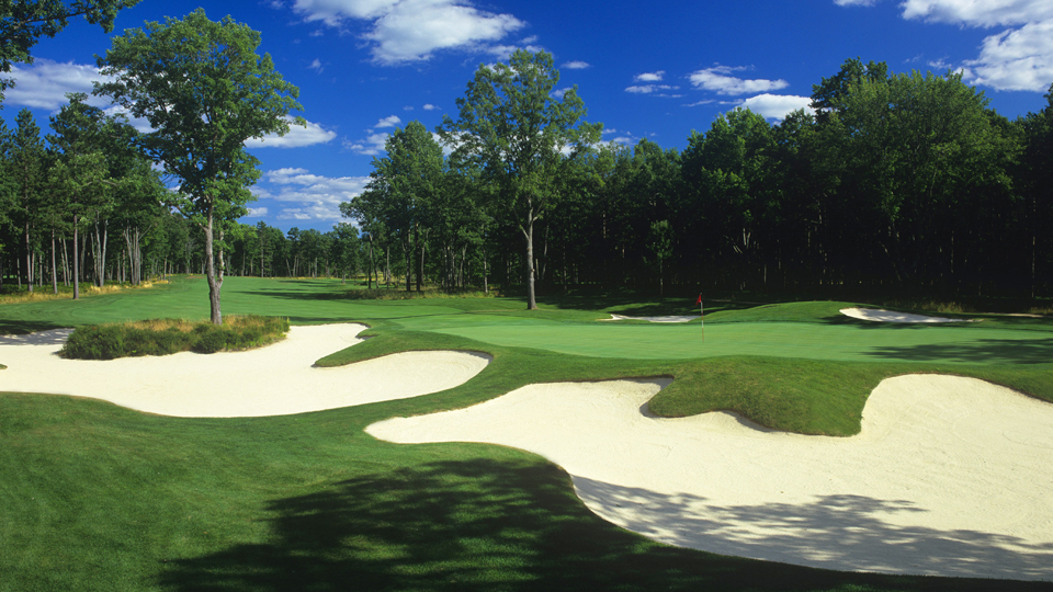 The 5th hole at Forest Dunes in Roscommon, Michigan.