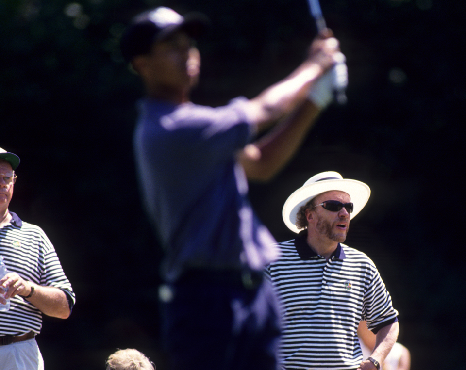 Nike CEO Phil Knight came out to Pumpking Ridge to watch Tiger Woods compete in and win his third straight U.S. Amateur.