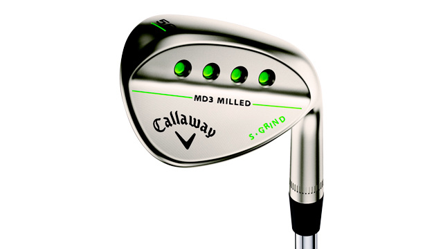 Callaway MD3 Milled Gold Nickel wedge.
