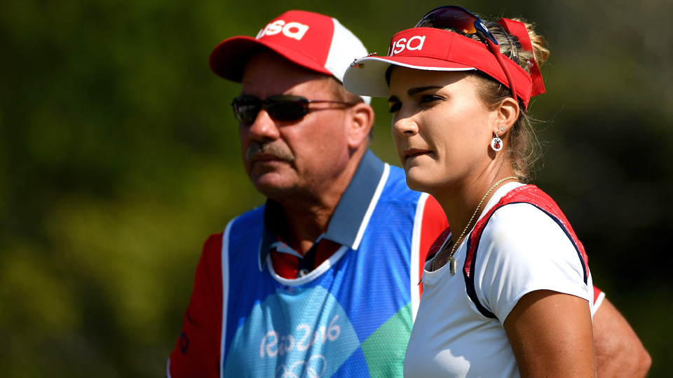 Lexi Thompson is one of four players at three under and three shots back after 18 holes in Rio.