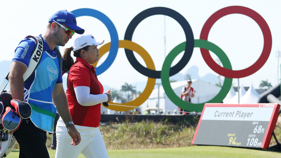 Inbee Park soared up the leaderboard on Day 1 of the Women's Olympic golf competition.