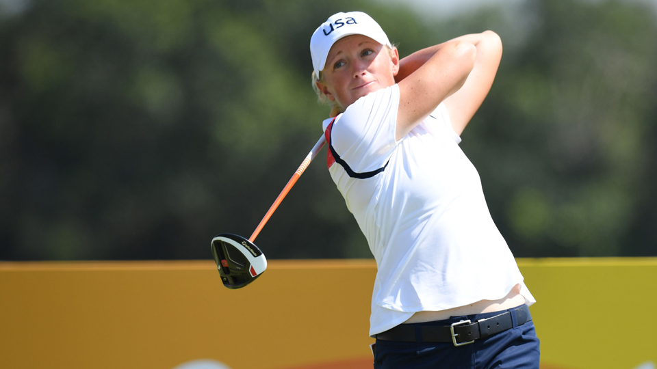 Stacy Lewis was among the players frustrated with the slow pace of play on Wednesday in Rio.
