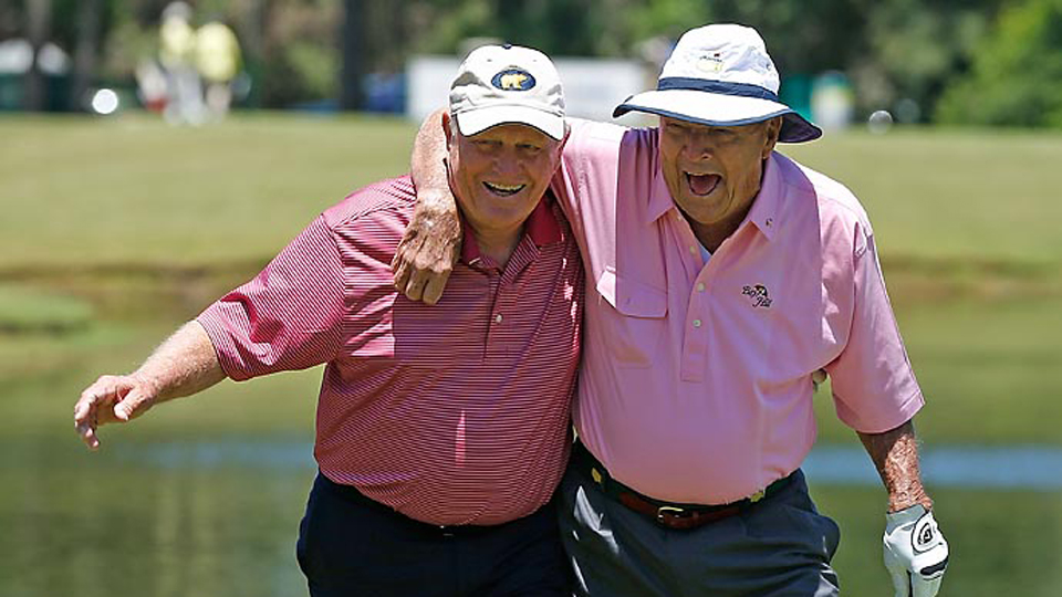 Jack Nicklaus and Arnold Palmer, shown here in 2013, never stopped giving crowds a show.
