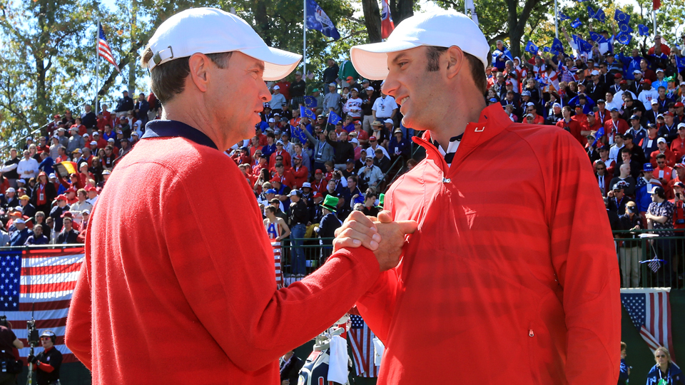 Davis Love III has Dustin Johnson as one of his big-hitting stars on this year's Ryder Cup team.