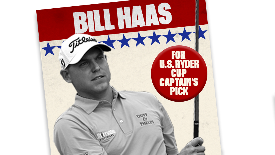 Here's why Bill Haas should be one of Davis Love III's captain's picks at the 2016 Ryder Cup.