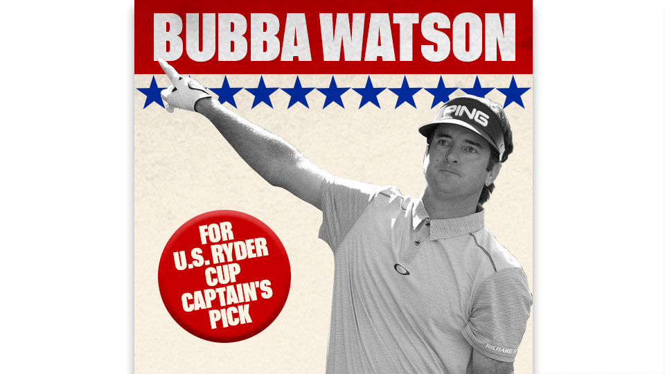 Bubba Watson is ninth in the U.S. Ryder Cup rankings.