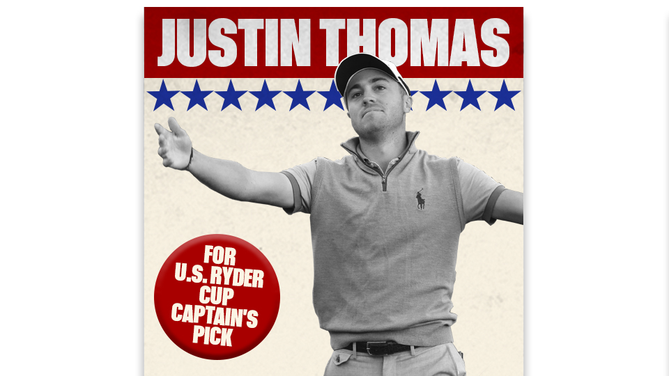 Justin Thomas would be a Ryder Cup rookie, but would provide much needed new blood to Team USA.