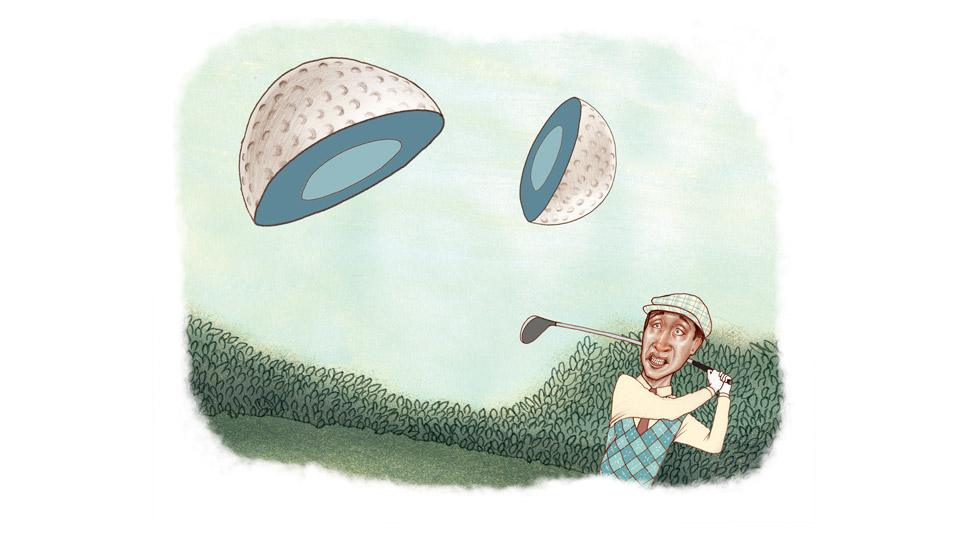 What happens if your ball breaks in two after hitting a shot? The Rules Guy has the answer.