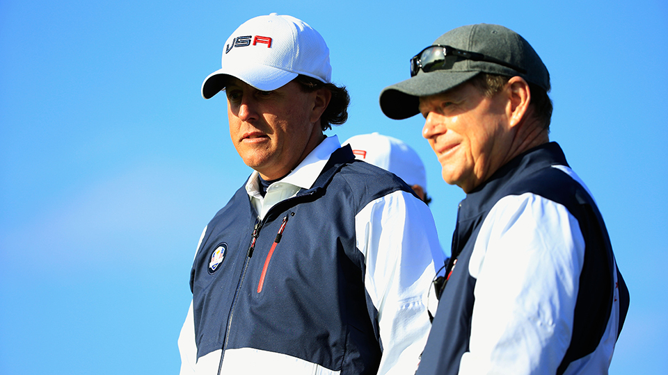 Phil Mickelson and Tom Watson didn't see eye to eye in 2014 at Gleneagles.