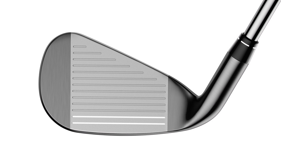 The face of the new Callaway Big Bertha OS irons.